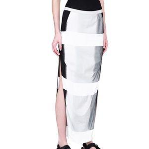 NWT Rick Owens Dirt Skirt Silver Black Degrade 8